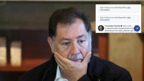 74c100b8 Noroña anuncia protesta en contra de Twitter por haberlo censurado